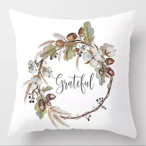 Pillow Cover Grateful Print